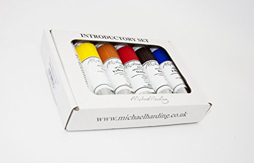 Michael Harding's Artist Oli Colours, Introductory Oil Paint Set, Six 40ml Tubes, 00640