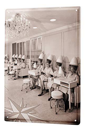 qidushop Cartel de Metal de Aluminio para decoración de Pared para Hombre, diseño Vintage de peluquería