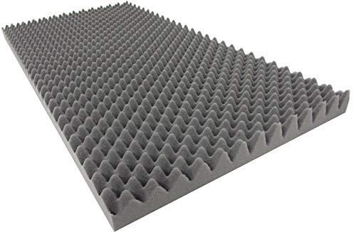 Dibapur Noppenschaumstoff AKUSTIKSCHAUMSTOFF (TYP 100x50x4 cm) Schall Dämmung zur effektiven Akustik Dämmung
