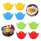 Best Egg Cookers - Zueyen Egg Poacher –(Pack of 8) Silicone Egg Review