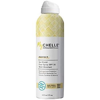 MyChelle Dermaceuticals Sun Shield Clear Spray Spf 30 With Zinc-Oxide Water-Resistant & Non-Aerosol Spray Broad Spectrum Sunscreen for All Skin Types 6 Fl Oz