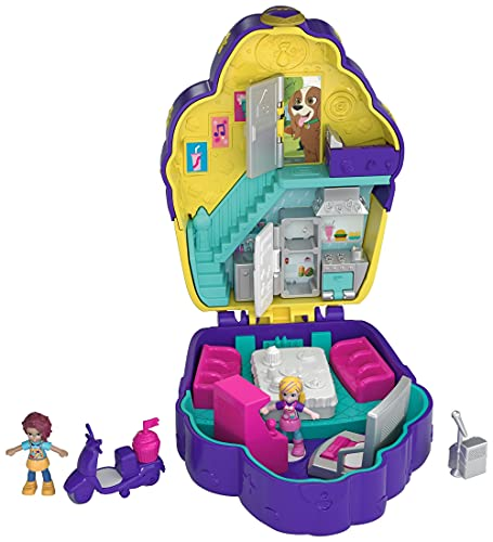 Product Image of the Polly Pocket Pocket World Cupcake Compact with Surprise Reveals, Micro Dolls &...