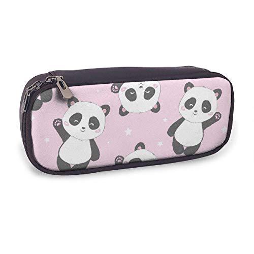Estuche Escolar de Gran Capacidad,Panda Rosa,Bolsa de Lápiz Organizador para Material Papelería con Cremallera Doble