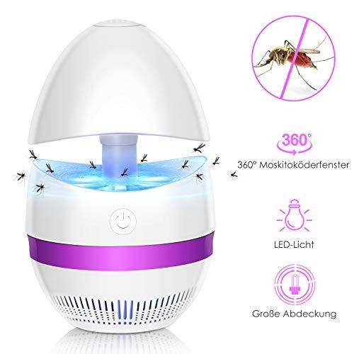 SUNNEST LED 360°Insektenvernichter Anti-Mückenlampe Schädlingsschutz Elektrischer Bienenkiller Anti Mücken außen und Innen Insekten vernichten Insektenkiller Insektenlampe UV Flug