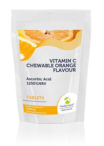 Vitamin C Chewable Orange Flavour Tablets 1000mg Health Supplement 1250% NRV Sample Pack x7 Pills