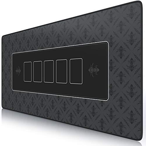 CSL - XXL Mauspad 900x400mm - XXL Poker Mousepad groß im Poker Stil - Tischunterlage Large Size - verbessert Präzision und Geschwindigkeit - Pokermatte Schwarz