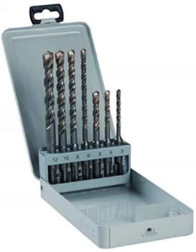 Bosch Professional Zubehör 2607018277 7tlg. Hammerbohrer-Set 5; 6; 8; 6; 8; 10; 12 mm
