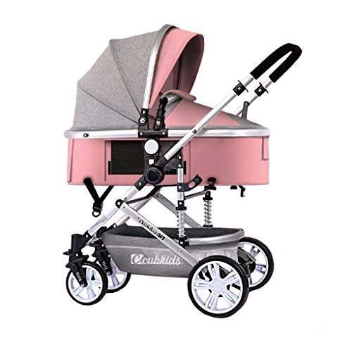 Great Features Of LXJ High Landscape Stroller,Detachable Handle,Aluminum Alloy Frame,one Step on Dou...