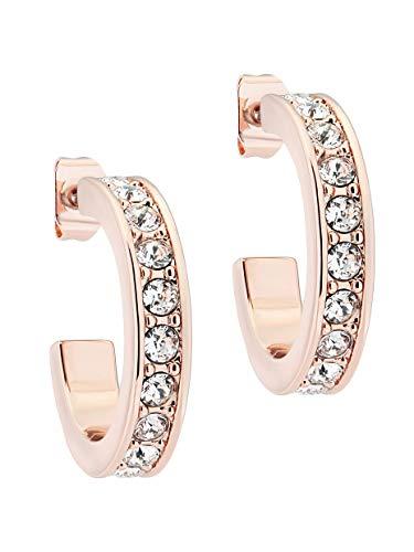 Ted Baker Seanna Small Crystal Hoop Earrings Rose Gold Tone/Crystal