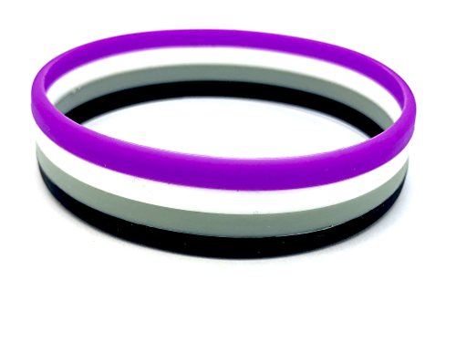 Patch Nation Asexual Gay Pride Lesbian LGBT Flagge Silikon Armbänder