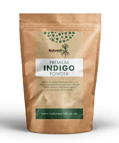 Natures Root Indigopulver (Indigofera Tinctoria) 500g - Natürliche Haarfarbe | Premium Qualität | Zum Färben & Revitalisierend Haar Glanz