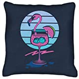 Tropical Chilli Wave Flamingo Cocktail Cushion