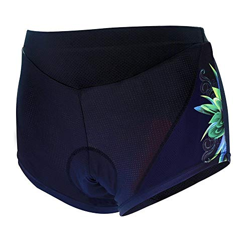 Cycling Shorts Women's Cycling Underwear Shorts Bike Undershorts with High Density High Elasticity and Highly Breathable Bicycle Riding Pants (Color : Black, Size : S)