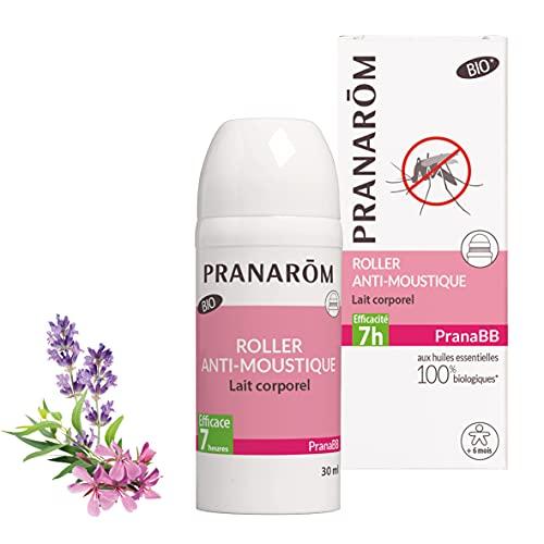 Pranarôm |Pranabb | Roller Anti-Moustique Bio (Eco) | Lait Corporel | aux Huiles Essentielles biologiques | 30 ml