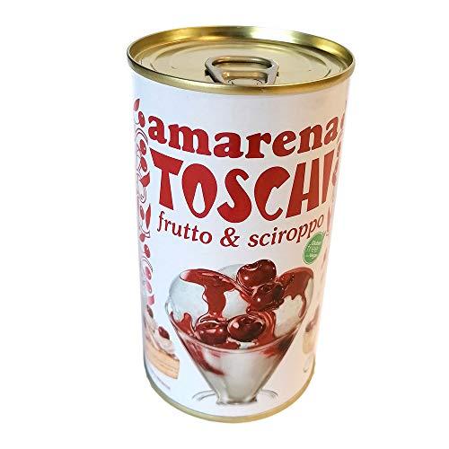 Mousse E Gelati TOSCHI GR 400 Amarena FRUTTO E SCIROPPO Gluten Free And Vegan AMARENE PRECANDITE in SCIRPPO Ideali per Decorare Dolci Torte Yogurt