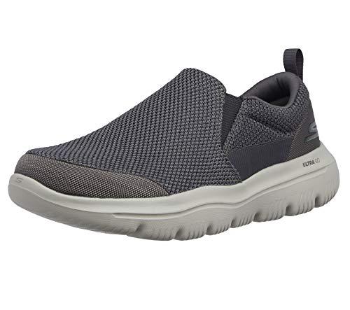 Skechers Men's Go Walk Evolution Ultra-impec Slip On Trainers, Grey (Charcoal Textile Charcoal), 8 UK (42.5 EU)