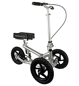 ALL NEW KneeRover PRO - All Terrain Knee Walker Featuring Patent Pending new design with Integrated Shock Technology for the best ride comfort on any terrain. Ideal for individuals recovering from injury or surgery to the foot, ankle or lower leg as ...