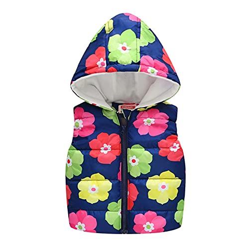 AOCRD Conjunto de ropa para bebé con capucha y cremallera, diseño de flores, para otoño e invierno, Greena., 5 años