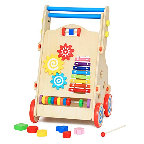 Check Out This Techecho Baby or Toddler Music Walker Wooden Baby Push Walker Rollover Prevention Ear...