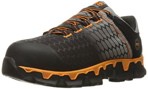 Timberland PRO Men's Powertrain Sport Alloy Toe SD+ Industrial and Construction Shoe, Grey Synthetic/Orange, 10 W US