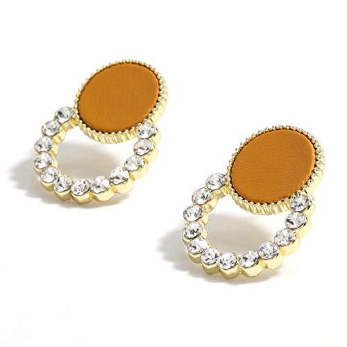 Vvff Pendientes De Diamantes De Imitación De Metal Hueco Redondo Accesorios De Joyería Para Mujer
