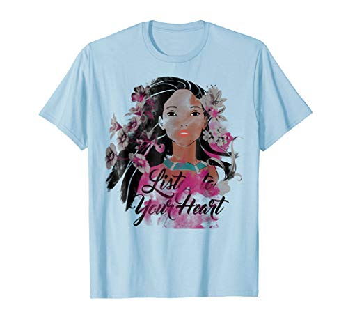 Disney Pocahontas Floral Watercolors Graphic T-Shirt