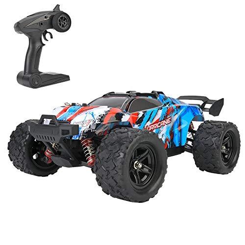 Ferngesteuertes Auto, 1:18 2,4 GHz, 38-45 km/h Allradantrieb Hochgeschwindigkeitsrennwagen Leistungsstarkes RC-Auto Elektrisches Modell Spielzeugfahrzeug mit 1200mAh Batter für Erwachsene Kinder(Blau)