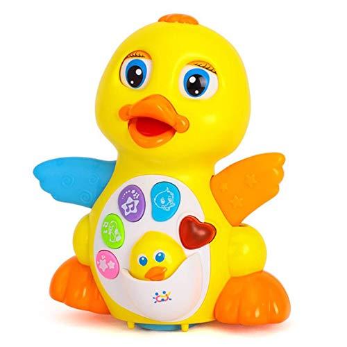 EVERANGEL El Pato de Juguete eléctrico del bebé Pato Amarillo Grande Columpio bailará y cantará 1/3 años Un Regalo para los niños