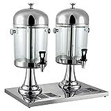 LIUXING-hm Buffet-Getränkeautomat Professionelle Saftpresse Milch-Tee Barrel Kaltes Getränk Maschine, Edelstahl for Gewerbe Ice und beheizbarer Getränkeautomat (Größe: 16L)