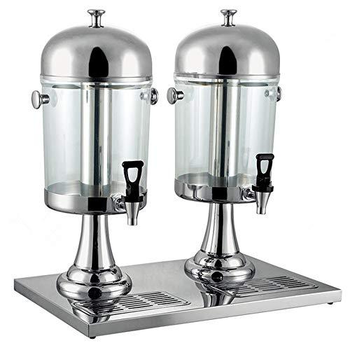 Bebida del jugo Dispensador Jugo de acero inoxidable comercial de hielo y se calienta la máquina de bebidas Profesional bebida Máquina leche té frío cañón de la máquina (Tamaño: 16L) Adecuado para cel