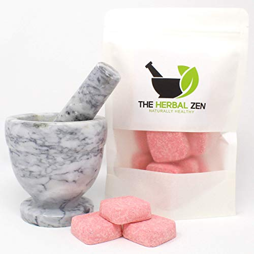 Headache Rx Shower Steamers with Essential Oils by The Herbal Zen Aromatherapy Shower Bombs