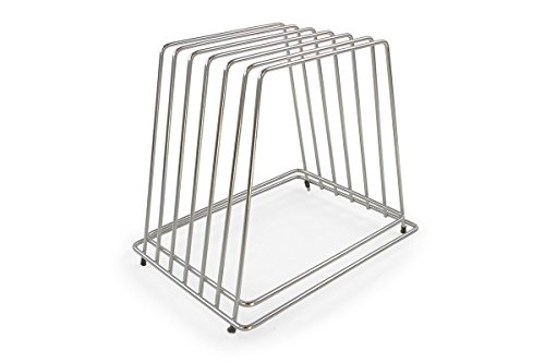 Commercial Cutting Board Rack - Stainless Steel, No Rusting - Holds 6 Boards