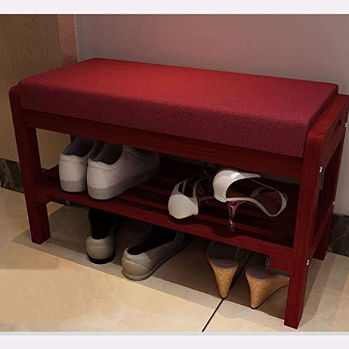 DNSJB Meuble à Chaussures 2 étagère à Chaussures de Remplacement pour Armoire à Chaussures Meuble à Chaussures de Rangement en Bois Massif avec Coussin de siège pour Banc de Chaussures