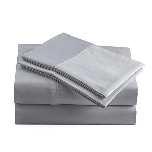 Peru Pima - Percal de 415 hilos - 100% algodón Pima peruano - Juego de sábanas completo, pizarra