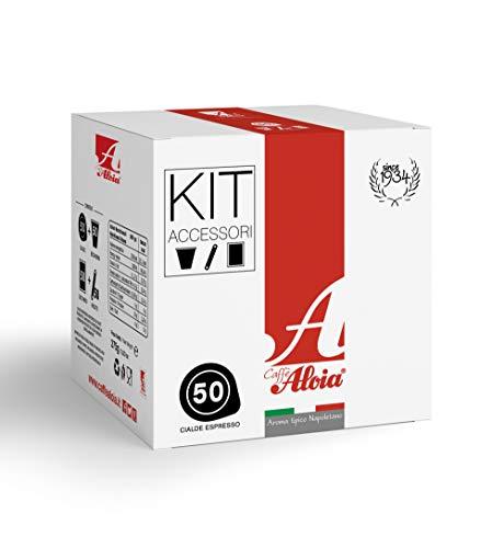 Caffè Aloia Aroma Tipico Napoletano Cialde + Kit Accessori - 50 pz