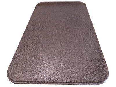 Kaminoflam/Platte unter dem Ofen/Bodenblech für Kaminofen/Funkenschutzplatte Kamin/Kaminblech Boden/Kaminbodenplatte für Ofen/Kaminplatte Funkenschutz (50 x 80 cm, altes Messing)