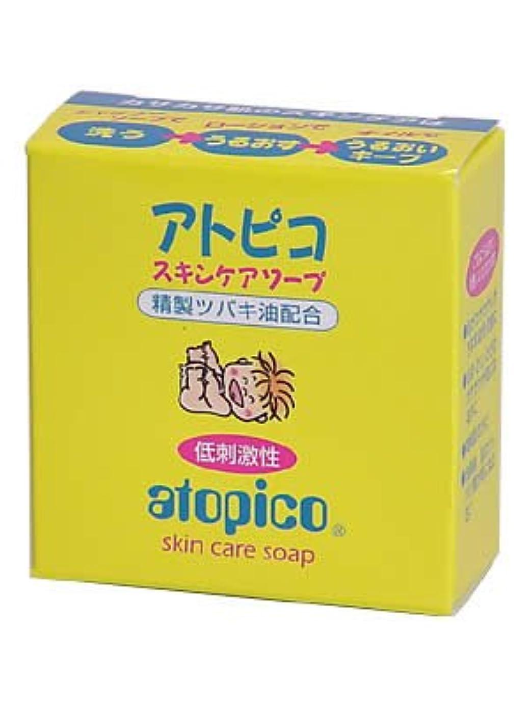 ヘロイン鹿禁止アトピコスキンケア ソープ ×8個セット