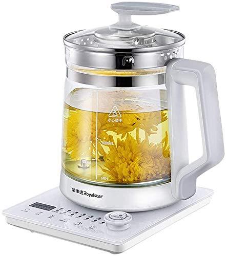 Gesundheit Topf automatisches Verdickung Glas eines Haushalt multifunktionale Blume Tee trinken Tee 1200W High Power 24 Stunden langfristige Isolierung,Galaxy Grau