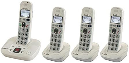 $159 » Clarity D712 Moderate Hearing Loss Cordless Phone with D702HS Expandable Handsets (Clarity D712 with (3) D702HS)