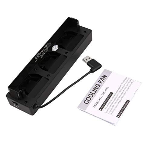 Newuyegie Ventilador para Nintendo Switch NS Soporte Original para Consola de Juego Base para estación de enfriamiento con Ventilador de 3 Ventiladores USB