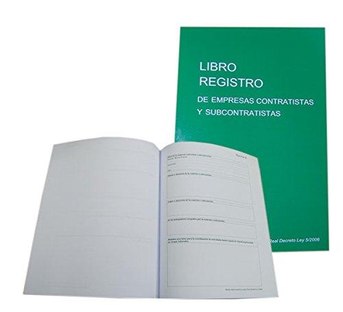 Libro Registro de Empresas Contratistas y Subcontratistas - Castellano
