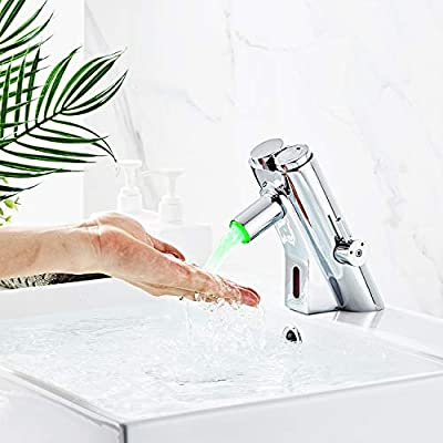 HALO Motion Sensor Faucet Bathroom Touchless Faucet Electronic Hands Free Faucet Time Delay Sink Faucet Self-Closing Basin Faucet