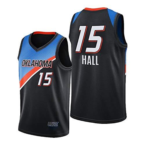 QJV Bazley Basketball-Trikots für Männer, OKC Swingman Herren Jersey 2020-21 Thunder Bazley Black City Jersey (S-XXL) M