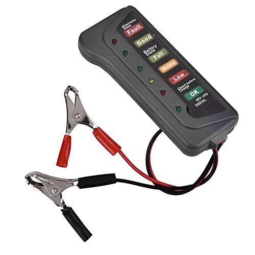 Comprobador de batería - Comprobador de arranque del alternador del analizador del analizador del probador de carga de la batería de la motocicleta del coche 12V