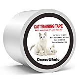 DanceWhale Anti Kratze Katzen Traning Klebeband, 10cm x 30m Kratzschutz Katze Hund Transparent Selbstklebend Kratzfestes für Sofa, Tür, Tisch, Möbel