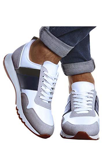 Leif Nelson Herren Schuhe für Freizeit Sport Freizeitschuhe Männer weiße Sneaker Sommer Coole Elegante Sommerschuhe Sportschuhe Weiße Schuhe für Jungen Winterschuhe Halbschuhe LN721X; 41, Beige
