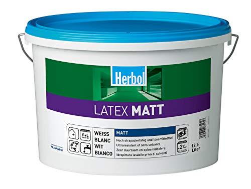 Herbol Latexfarbe Latex Matt 2,5L Weiß