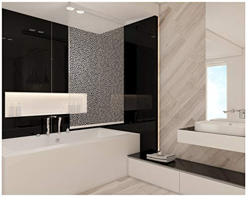 KS Handel 24 Basic DUSCHROLLO 120x240 cm PEVA Milky Stone TRANSPARENT Optik! Shower Rollo Curtain!