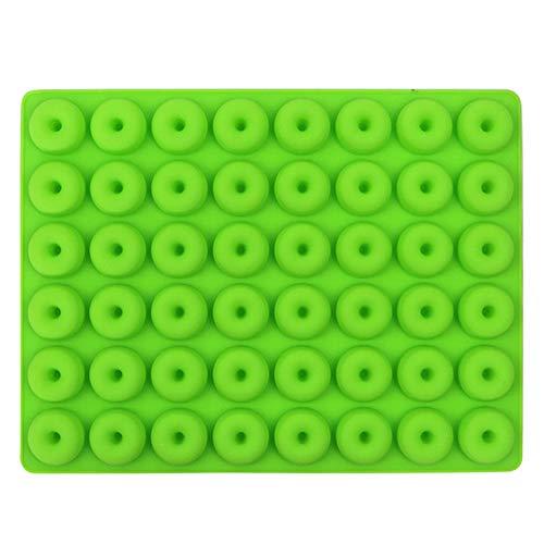 RAPG Mini Donut Silicona Molde de Chocolate Antiadherente DIY Donuts Waffle/Pudín/Bandeja de Cubo de Hielo/Gelatina/Caramelo/Jabón Flexible Molde para Hornear Dulces Decoración de