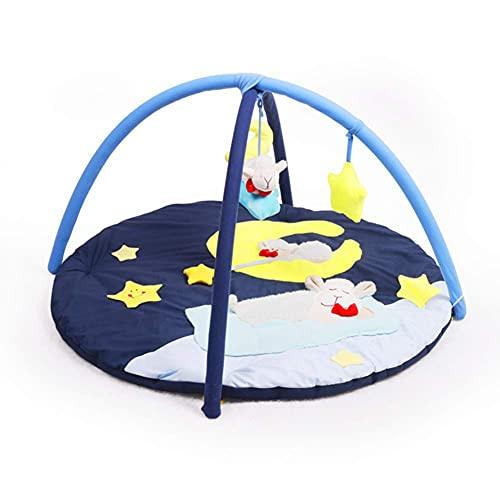 Tapis de jeu pour bébé, tapis de jeu souple Tapis de jeu pour bébé, tapis de jeu, cirque, animaux amusants, textures, miroir, tapis de découverte pour nourrissons, nouveau-né-convient dès la naissan